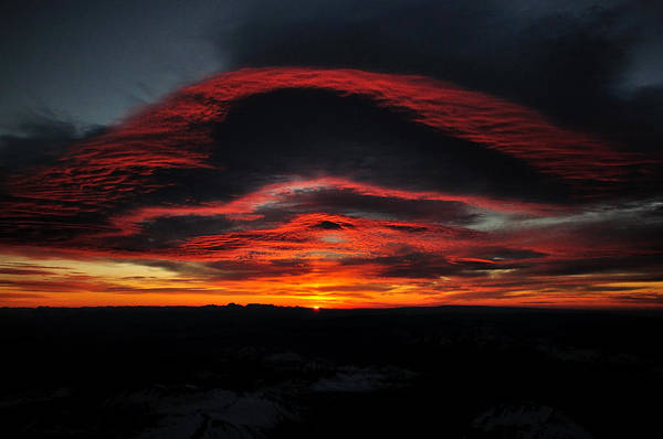 Sunrise On Rainier Art Print