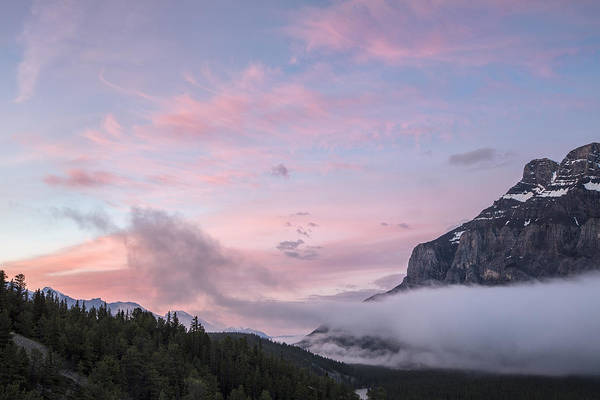 Art In Canada Photograph - Sunrise On Rundle by Jon Glaser
