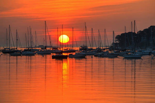 Sunrise On Salem Harbor Salem Ma Art Print