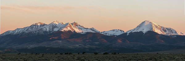 Fourteener Photograph - Sunrise On The Blanca Group by Aaron Spong