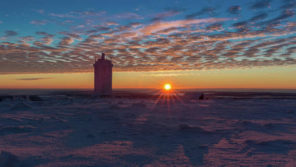 Sunrise On The Brocken, Harz Art Print