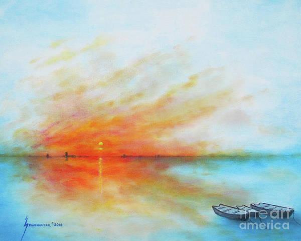 Wall Art - Painting - Sunrise On The Lake by Jerome Stumphauzer