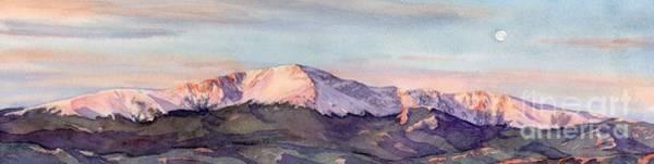 Pikes Peak Painting - Sunrise On The Peak by Lorraine Watry
