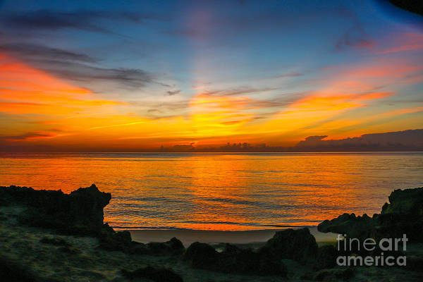 Photograph - Sunrise On The Rocks by Tom Claud