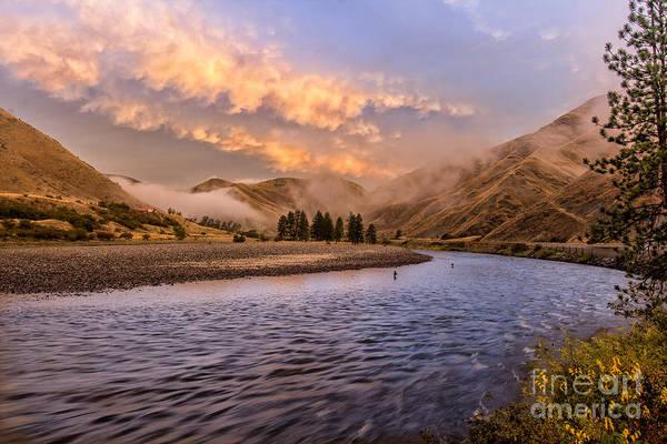 Photograph - Sunrise On The Salmon Idaho Landscape Art By Kaylyn Franks by Omaste Witkowski