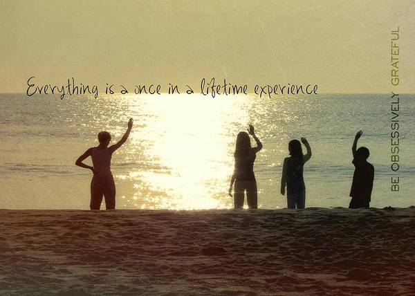 Photograph - Sunrise On The Sea Quote by JAMART Photography