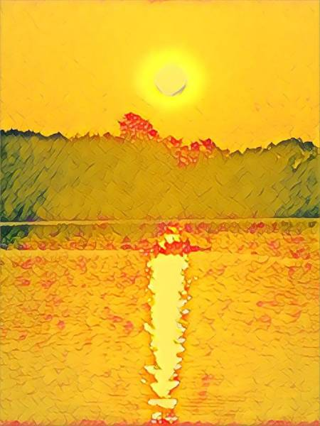 Sunrise On Town Lake Art Print