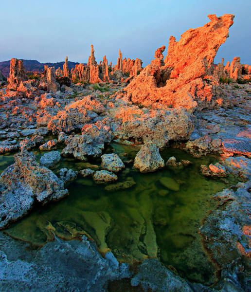 Sunrise On Tufa 2 Art Print