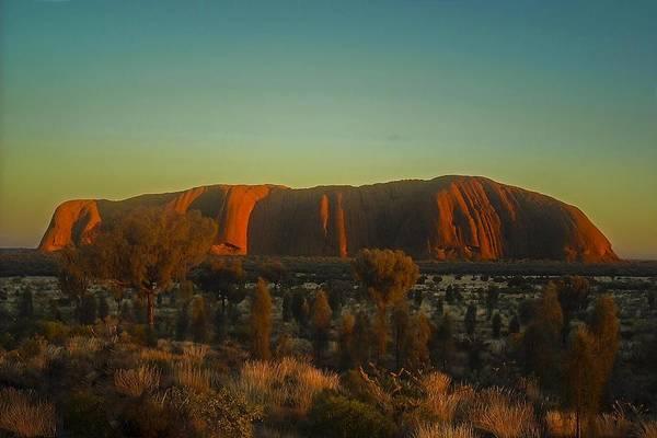 Photograph - Sunrise  On Uluru by NaturesPix