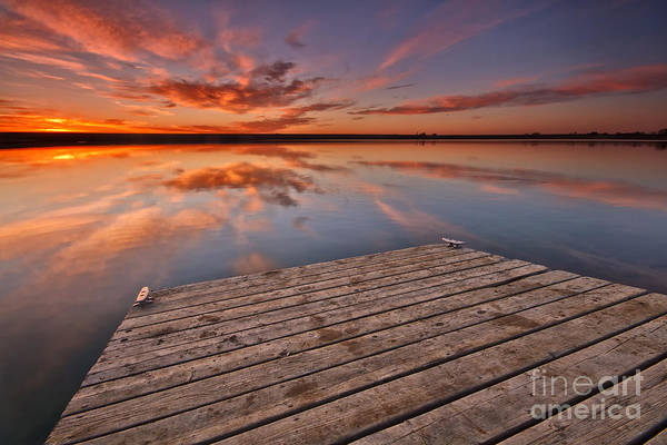 Wall Art - Photograph - Sunrise Over A Colorado Fishing Dock by Ronda Kimbrow