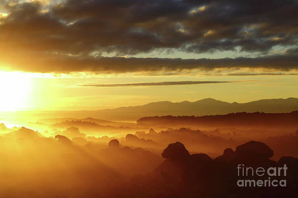 Photograph - Sunrise Over Ancient Lava Flows North Lipez Bolivia by James Brunker
