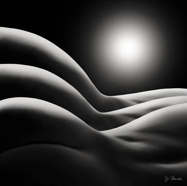 Female Nude Digital Art - Sunrise Over Bodywaves by Joe Bonita