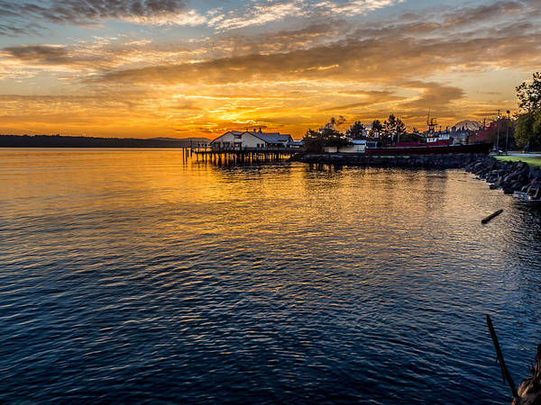 Photograph - Sunrise Over Commencement Bay Tacoma, Wa by Rob Green