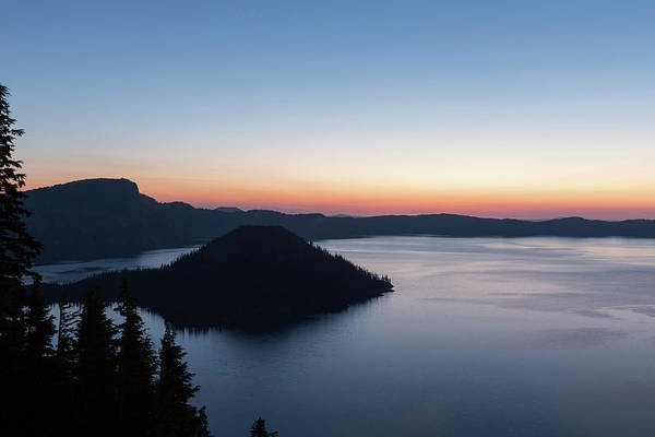 Photograph - Sunrise Over Crater Lake by Paul Schultz
