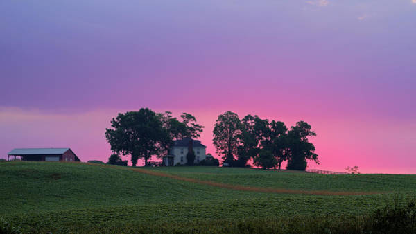 Photograph - Sunrise Over Farmhouse by Lori Coleman
