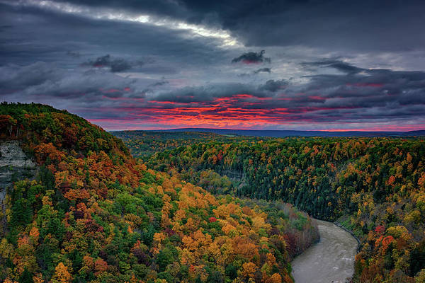 Wall Art - Photograph - Sunrise Over Genesee River Gorge by Rick Berk