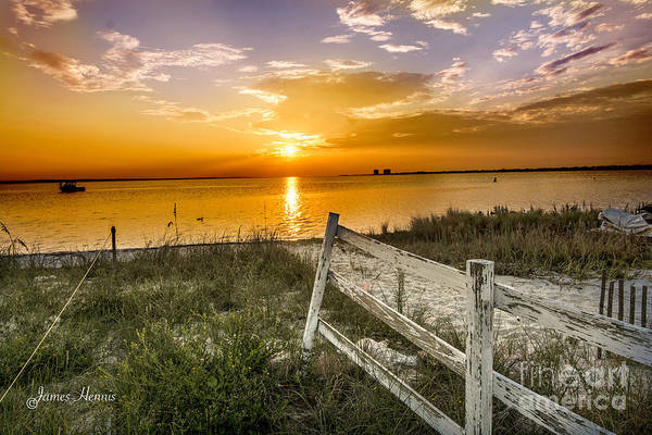Photograph - Sunrise Over Gulf Bay by James Hennis