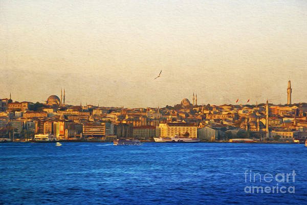 Istanbul Photograph - Sunrise Over Istanbul by Laura D Young