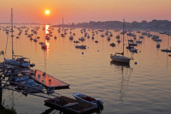 Photograph - Sunrise Over Marblehead Harbor On A Hazy Summer Morning by Toby McGuire