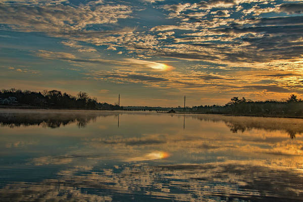 Photograph - Sunrise Over Mill Pond  by Kristia Adams