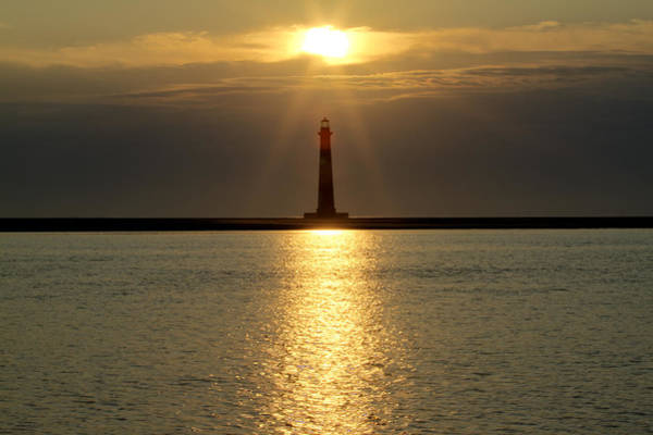 Photograph - Sunrise Over Morris Island Lighthouse by Dustin K Ryan