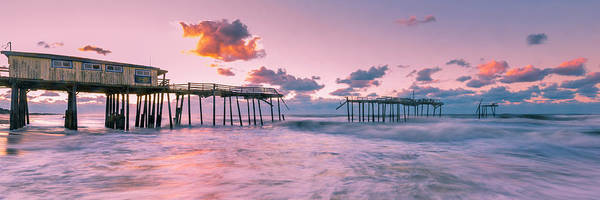 Photograph - Sunrise Over Outer Banks Fishing Pier In Frisco by Ranjay Mitra