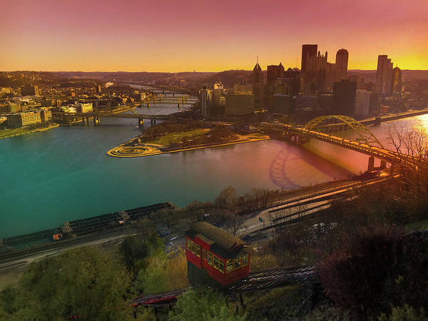 Wall Art - Photograph - Sunrise Over Pittsburgh  by Art Spectrum