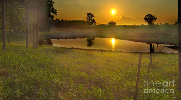 Photograph - Sunrise Over Pond by James Hennis