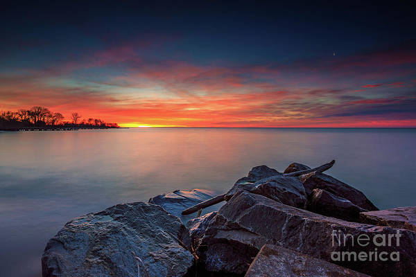 Wall Art - Photograph - Sunrise Over Rocks by Andrew Slater