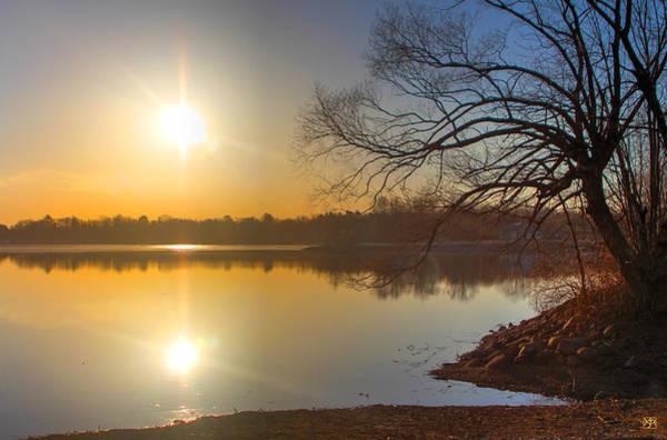 Photograph - Sunrise Over Sebasticook Lake by John Meader