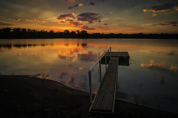 Photograph - Sunrise Over Stuber's Dock by Jeff Phillippi