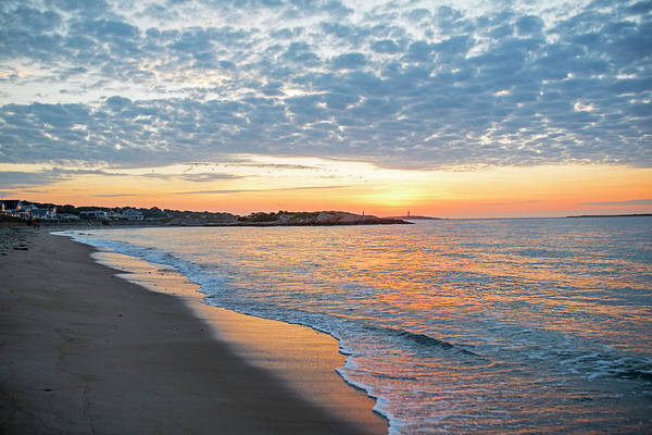 Photograph - Sunrise Over Thacher Island From Long Beach In Gloucester Ma by Toby McGuire