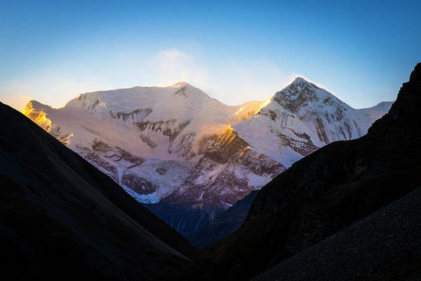 Photograph - Sunrise Over The Annapurna Range by Laura Szanto