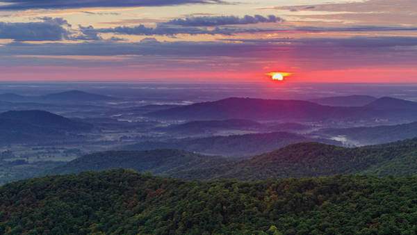 Photograph - Sunrise Over The Blue Ridge by Lori Coleman