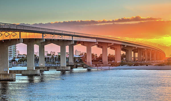 Wall Art - Photograph - Sunrise Over The Bridge To Orange Beach by JC Findley