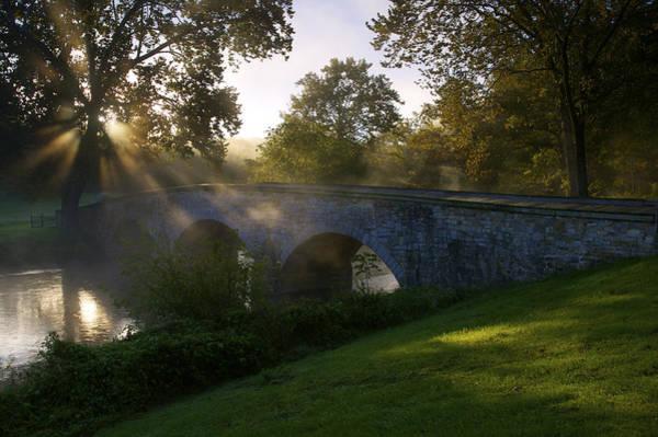 Burnside Bridge Photograph - Sunrise Over The Burnside Bridge by Michael Melford
