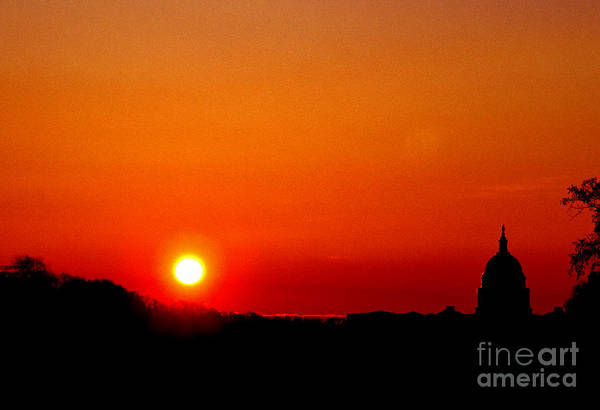 Photograph - Sunrise Over The Capitol Washington Dc by Thomas R Fletcher