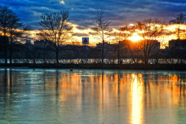 Photograph - Sunrise Over The Citgo Sign And Charles River - Boston by Joann Vitali