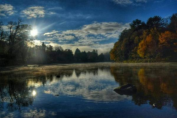 Clarion Photograph - Sunrise Over The Clarion River by Shelley Smith