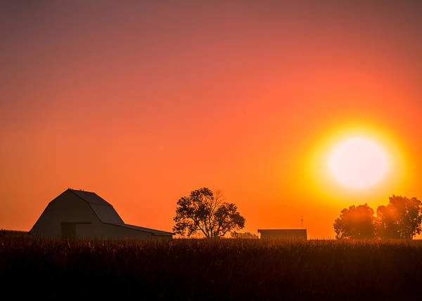 Photograph - Sunrise Over The Farm by Ron Pate