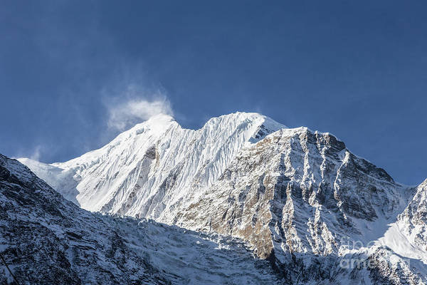 Photograph - Sunrise Over The Gangapurna Peak At 7545m In The Himalayas In Ne by Didier Marti