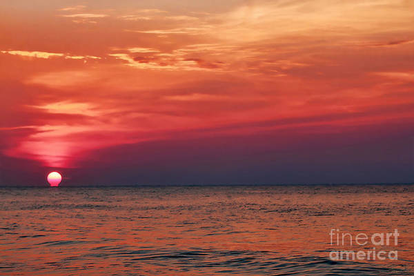 Photograph - Sunrise Over The Horizon On Myrtle Beach by Jeff Breiman