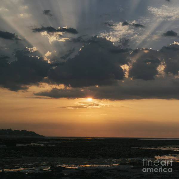 Sunrise Over The Isle Of Wight Art Print