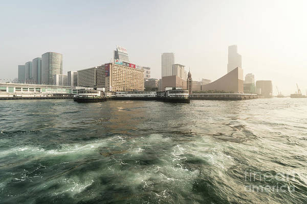 Photograph - Sunrise Over The Kowloon Skyline With The Star Ferry Pier And Th by Didier Marti