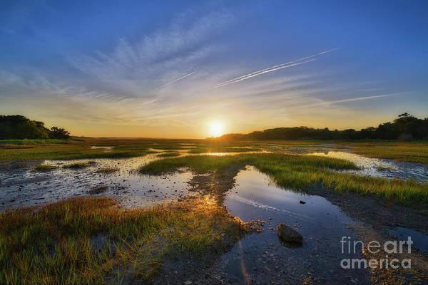 Bone Yard Wall Art - Photograph - Sunrise Over The Marsh  by Michael Ver Sprill