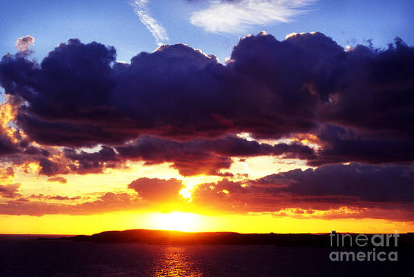 Photograph - Sunrise Over The Mediterranean by Thomas R Fletcher