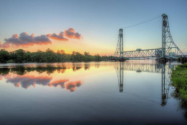 Wall Art - Photograph - Sunrise Over The Neches River In Beaumont by JC Findley