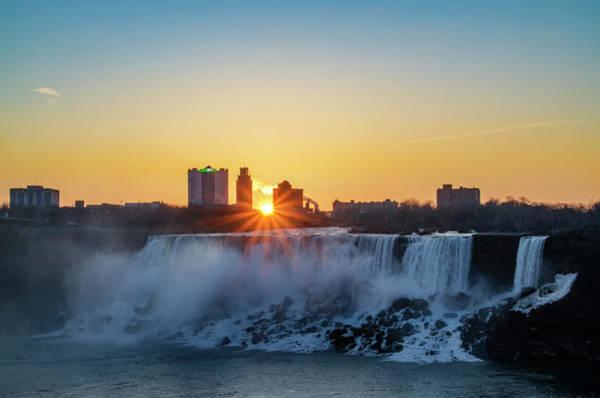Photograph - Sunrise Over The Niagara Falls by Bill Cannon