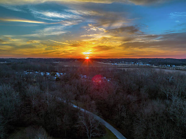 Photograph - Sunrise Over The Woods by Nick Smith