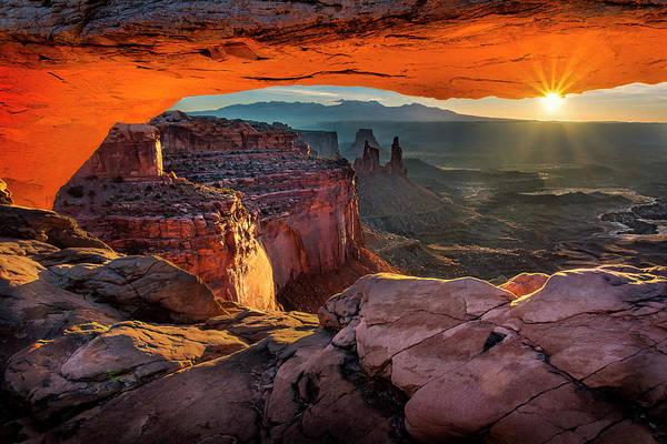 Photograph - Sunrise Peek At Mesa Arch by Michael Ash